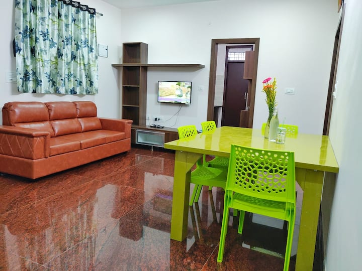 Entire two bedroom flat with kitchen in JP Nagar 2