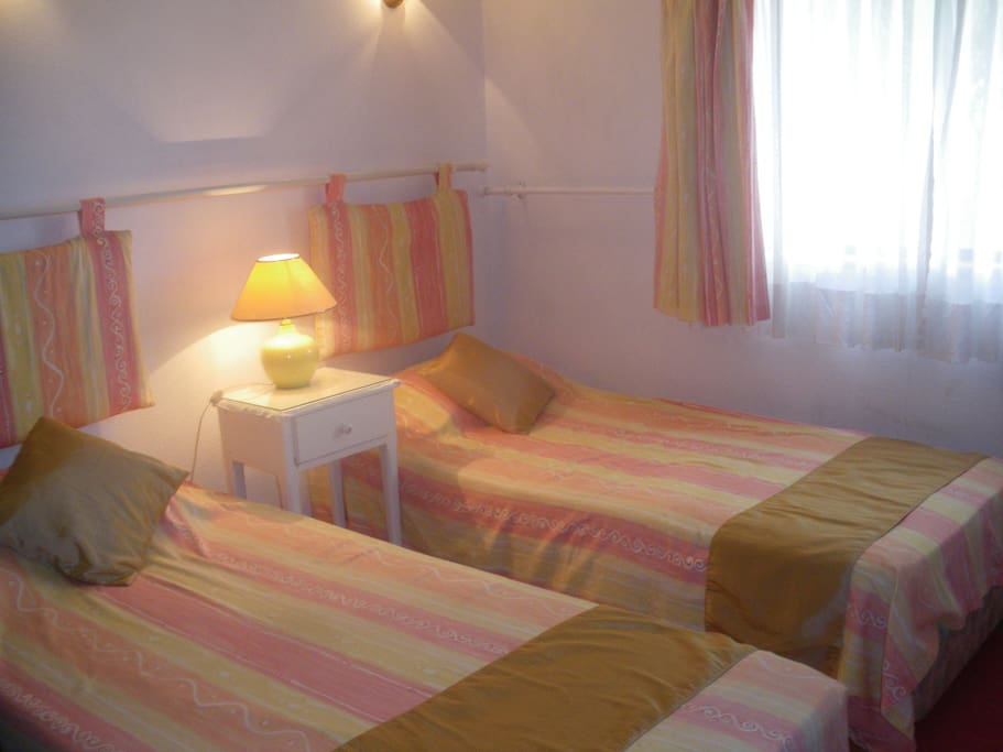 Bedroom 3 is quiet and spacious with built in wardrobes and chest of drawers.