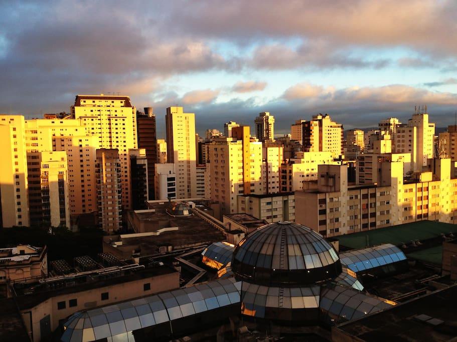 Minha vista, São Paulo com a cúpula do Shopping