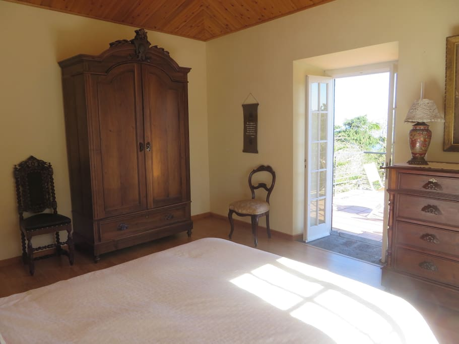 Master Bedroom: French doors leading to the balcony