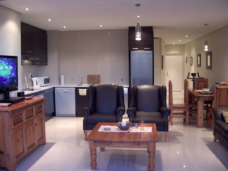 Open-plan kitchen & living area