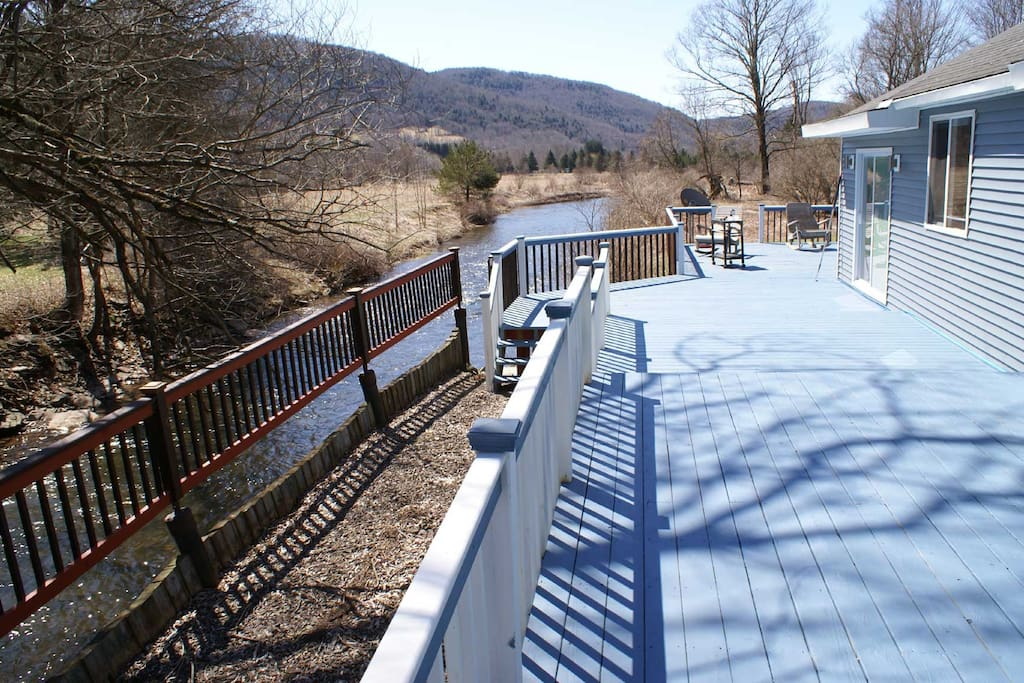 wrap around deck with river frountage