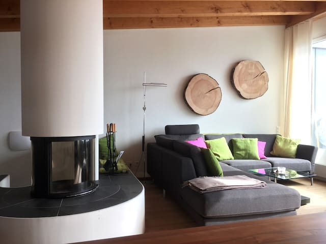 Fantastic penthouse in Samedan - Samedan - House