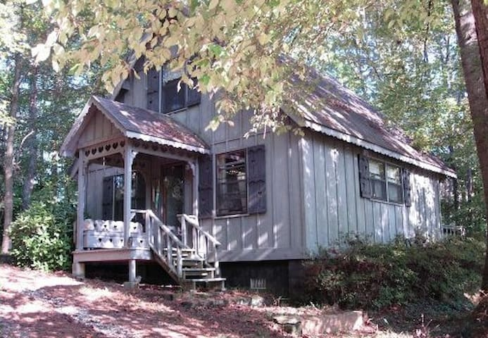 The Little House is a charming chalet-style getaway tucked in a beautiful natural setting.