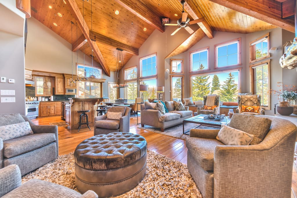 Spacious Great Room with 2 Separate Seating Areas