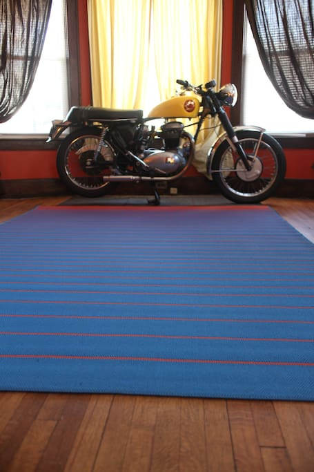 Living room (and restored 1965 BSA)