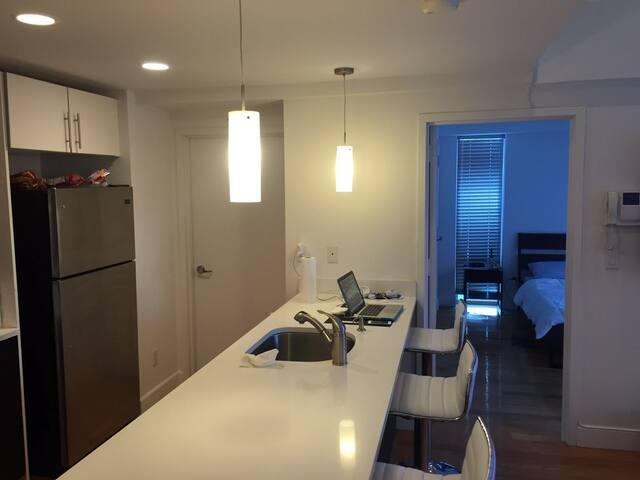 2 Bed /Bath Luxe Duplex Condo with Island Kitchen