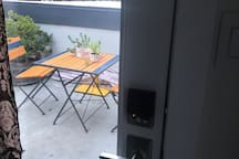 Private entrance directly to patio.