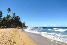 Sandy Beach is only a 4 minutes drive
