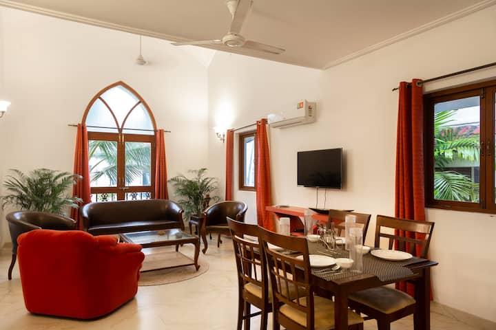 3BHK Duplex villa with Swimming pool in siolim