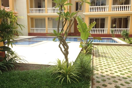 Brand new pool facing 2 bedroom flat at North Goa - Siolim