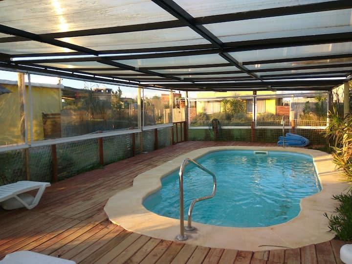 Noctilucas, a 140 m. del mar + piscina climatizada