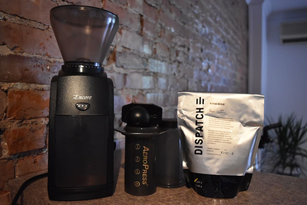 Coffee grinder / Aero press