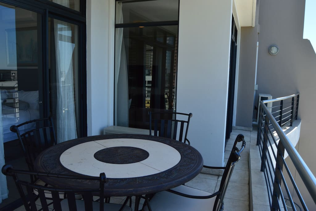 Balcony with entrance to the lounge and Master Bedroom