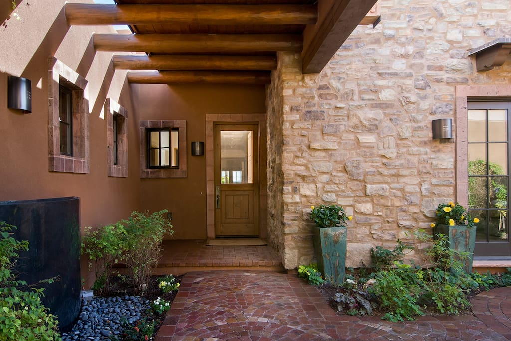 Private Entry and courtyard