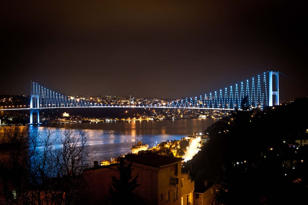 view in the night