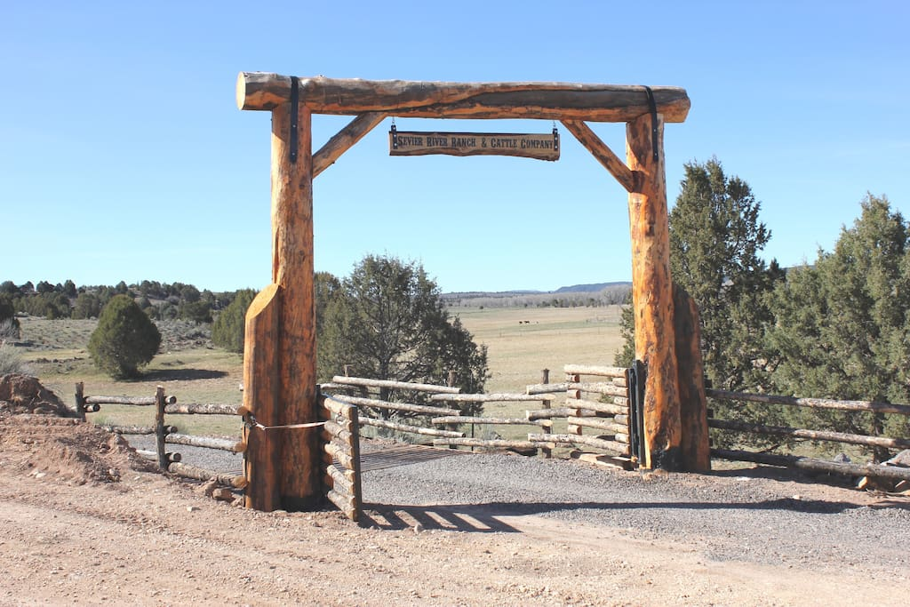 Ponderosa entrance to the Ranch's driveway