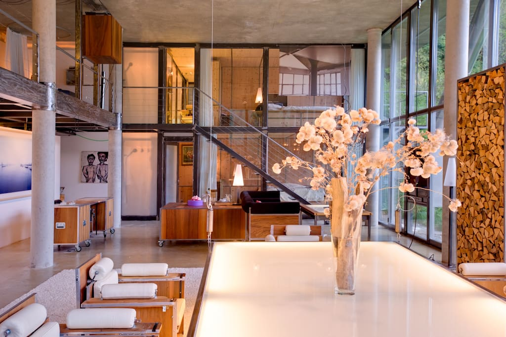 Created as designer Heinz Julen's private home, it is full of his unique touches.