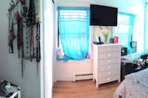 Pano shot of the bedroom
