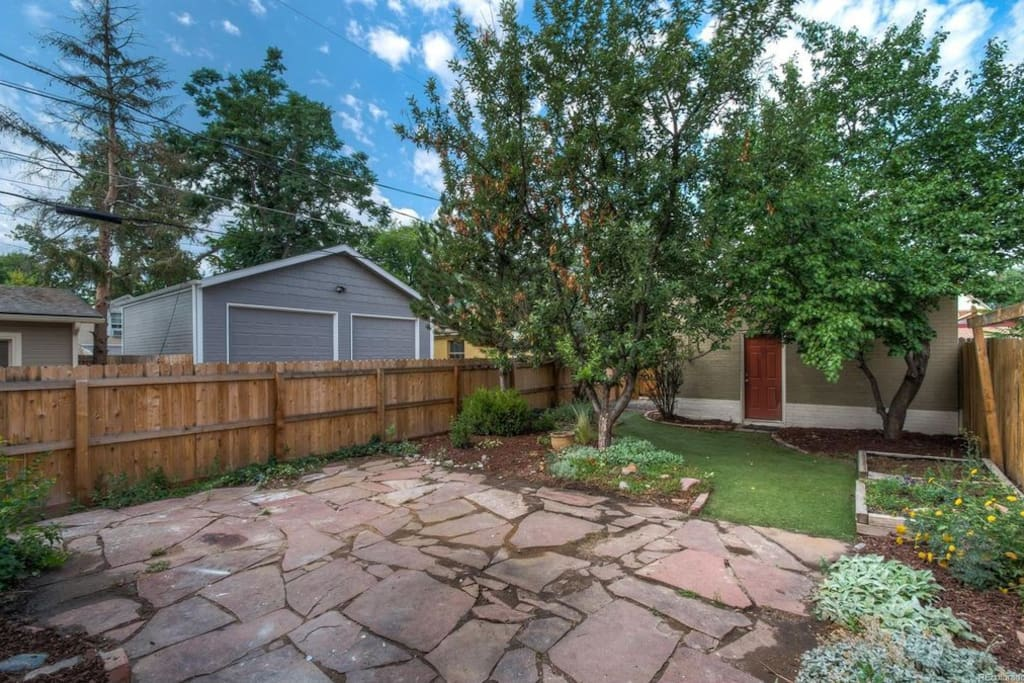 Private Fenced Backyard with Detached Garage.  Gas Grill rprovided.
