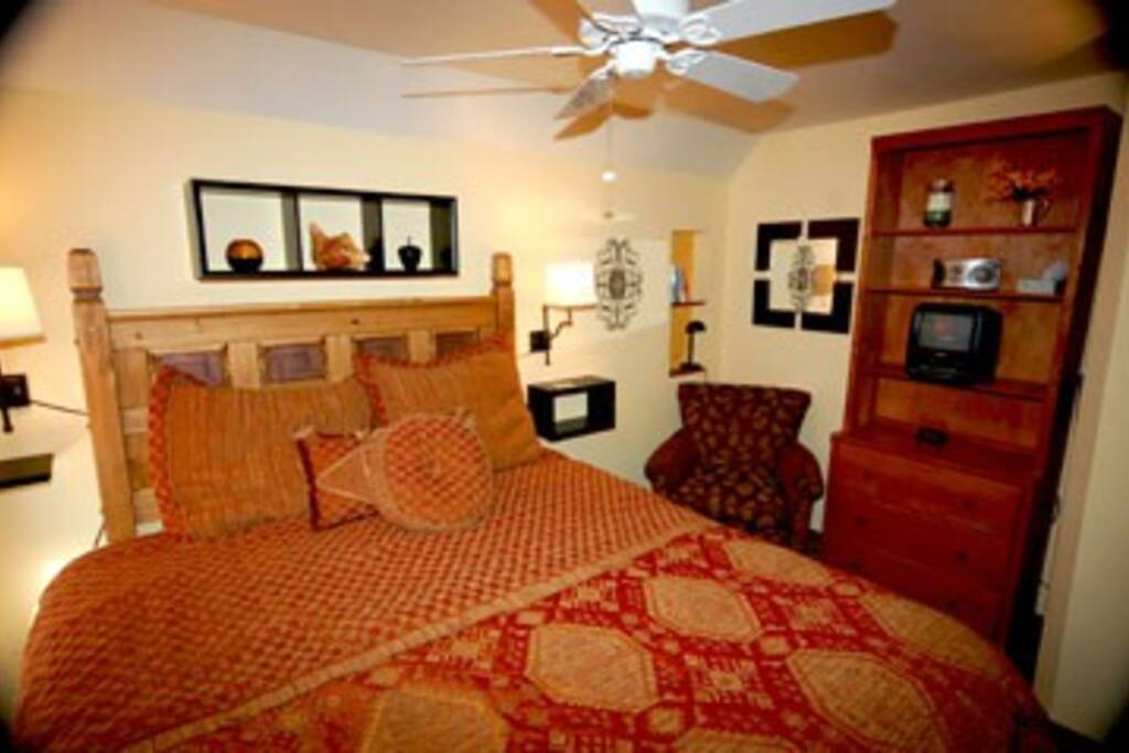Comfy king size bed in master bedroom
