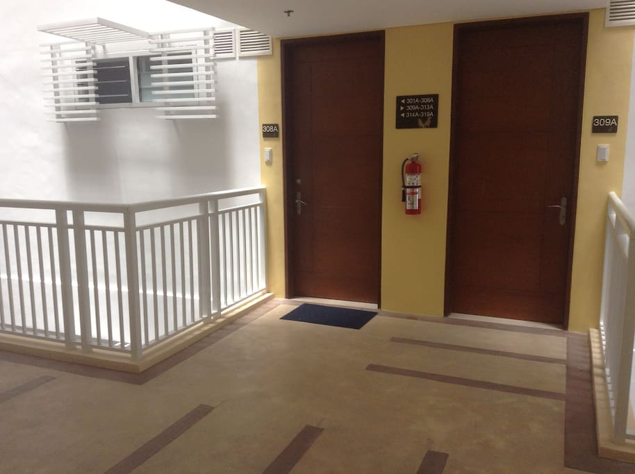 Unit is conveniently located in front of elevator