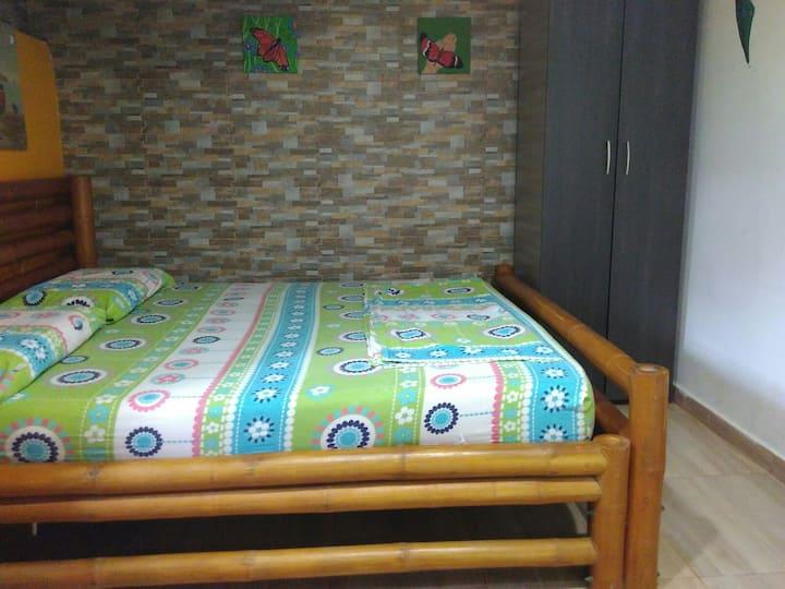 Privada cabaña# 2  con aire acondicionado,TAGANGA
