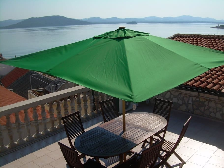 Le toit terrasse de la maison