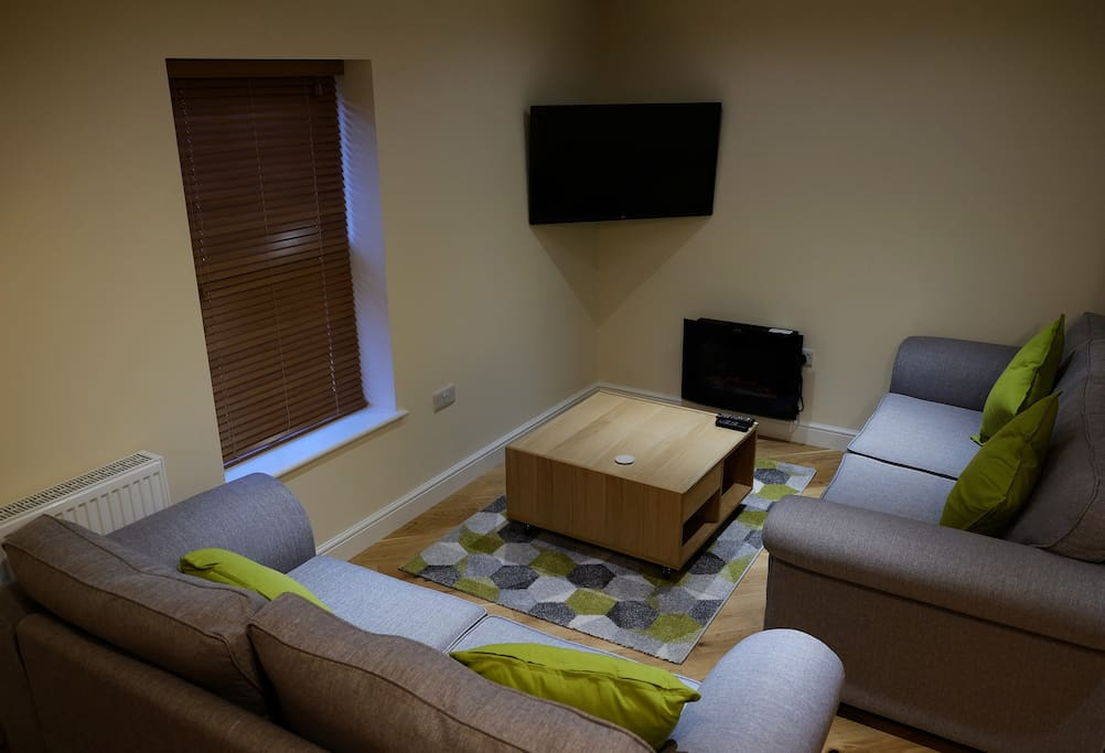 The Cwtch living area,  self catering apartment in Rhayader