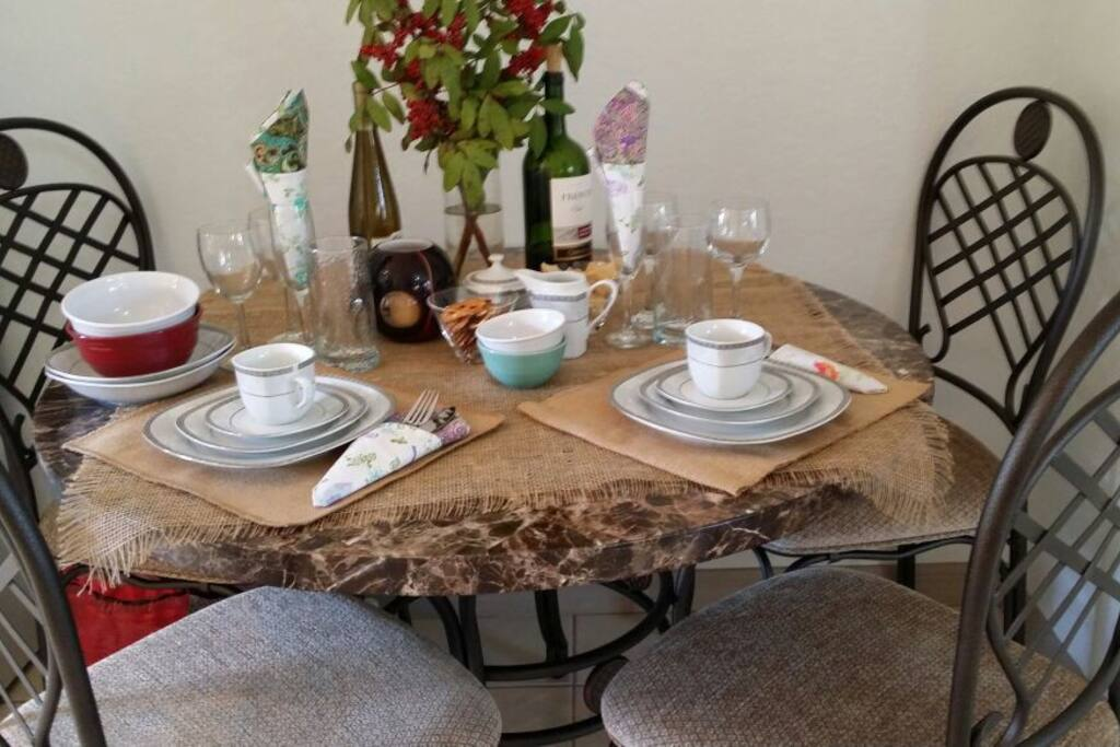 Dining for  4  with  fine China
