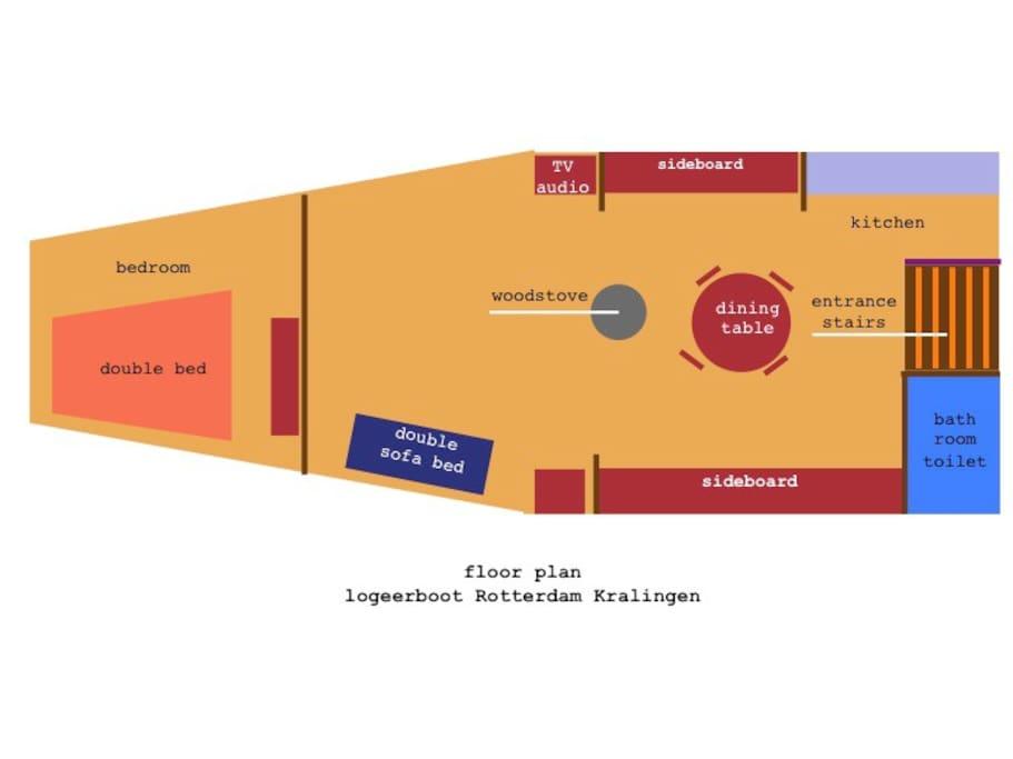 Floor plan of Logeerboot Kralingen