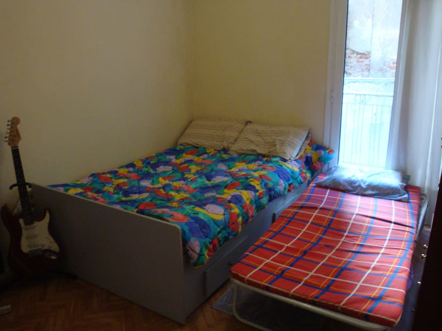 Bedroom with extra bed