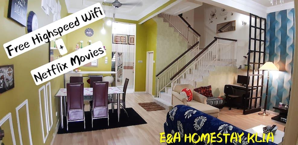E&A HomeStay -12km KLIA + FREE WIFI + Netflix