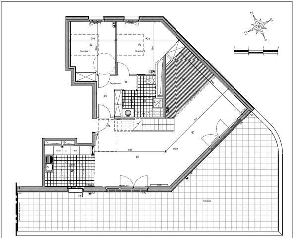 Plan de l'appartement au 4e étage.