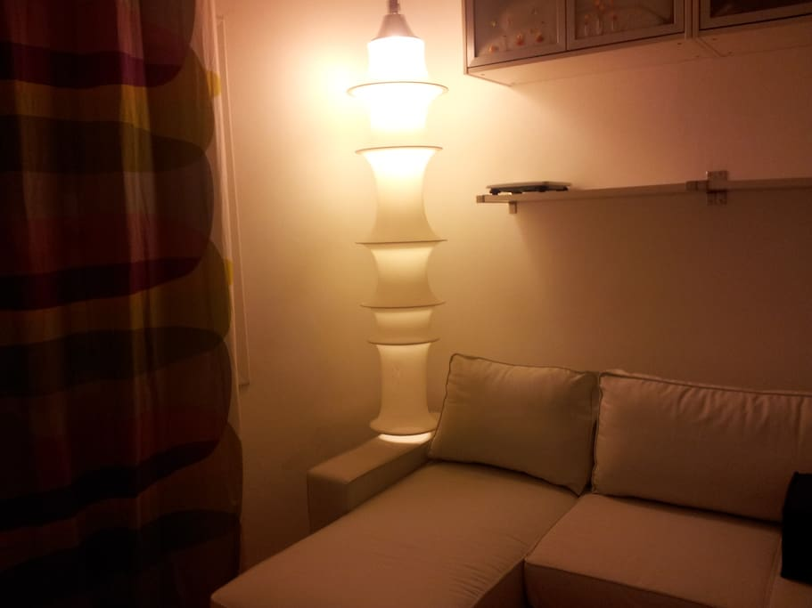zona living con divano letto nuovo