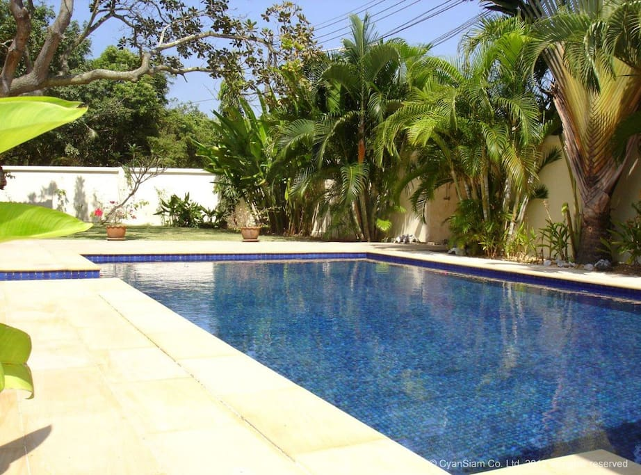 Private Swimming pool with easy steps to access