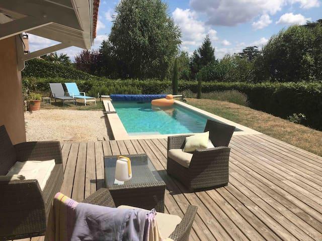 Maison 4 chambres et piscine St Cyr au mont d'or