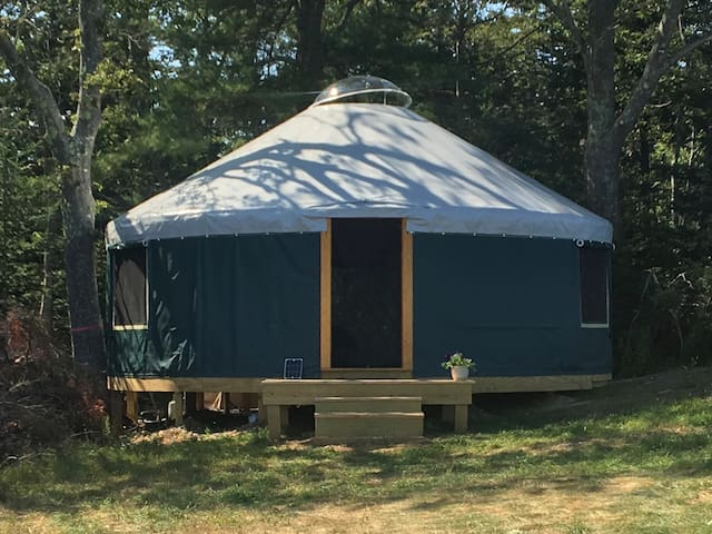 Yurt On A Coastal Maine Farm