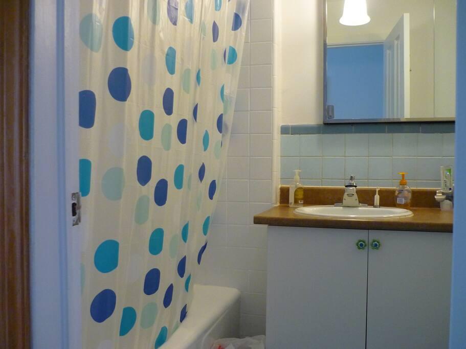 Salle de bain à partager avec les occupants de l'autre chambre