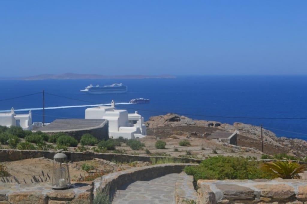 sea view from the veranda of ilia villa