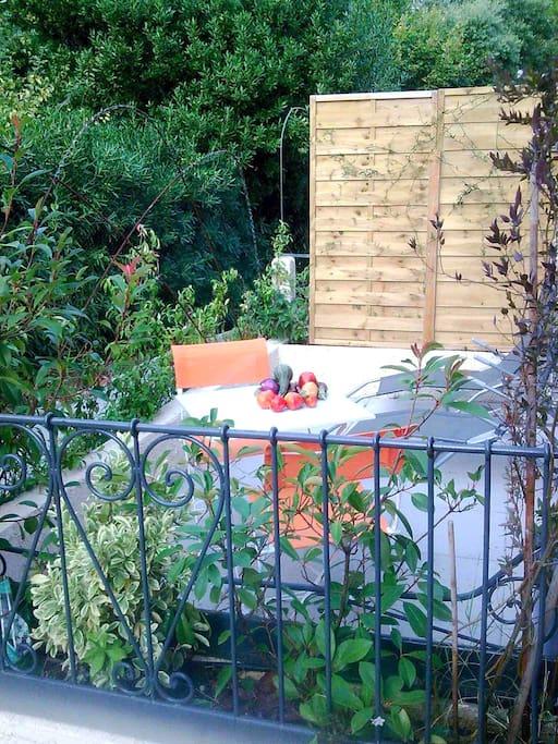 terrasse privative au soleil