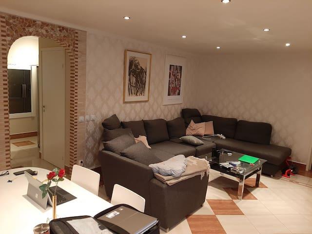 One room Lidingö Island Stockholm big room.