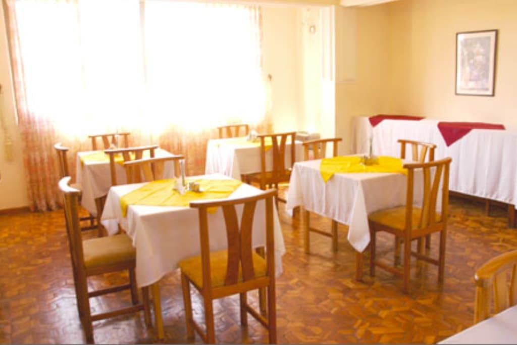 Common breakfast area