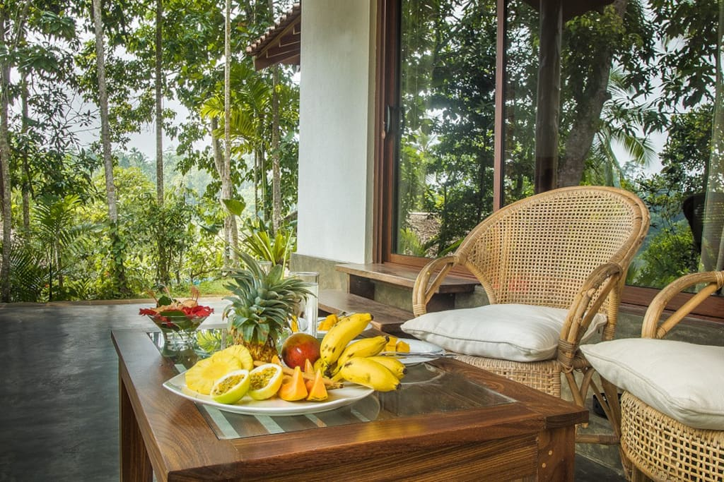 Enjoy some local fruit on the veranda