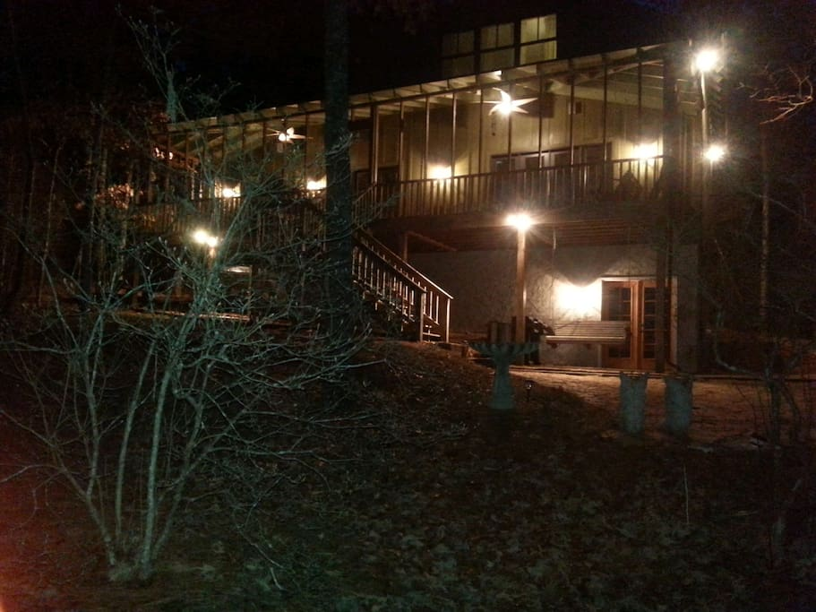 "The ""Greenhouse"" at night"