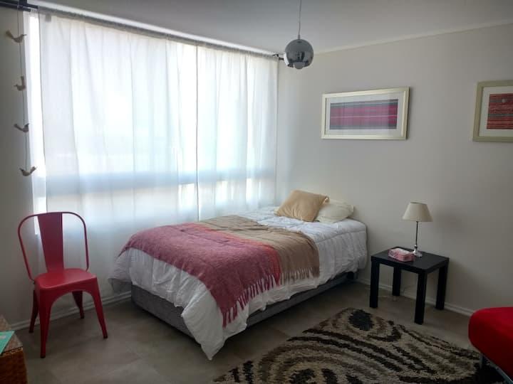 Acogedor studio Stgo centro, cocina, baño y closet