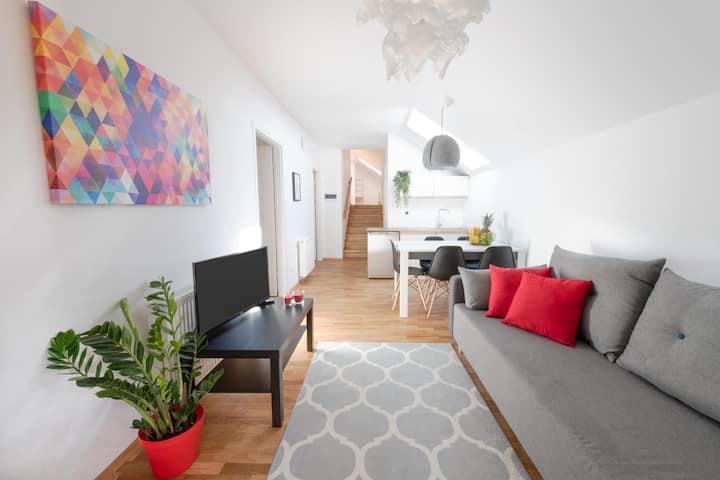 Halna Residence: apartament dwupoziomowy