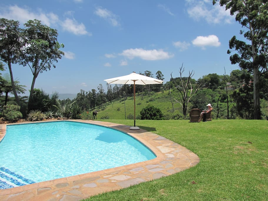 Large heated pool, privacy on 6000m2 and a great view
