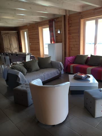 Superb wood home 17 pers and spa - Bernay-en-Ponthieu - House