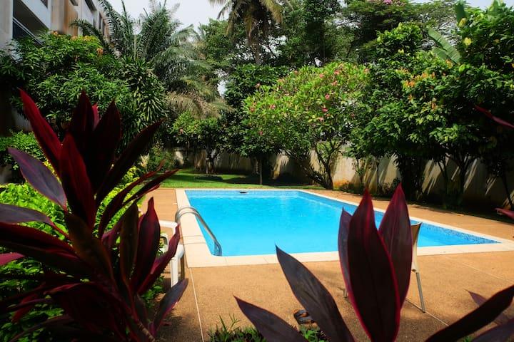 Magnifique aptmt au coeur d'Abidjan avec piscine